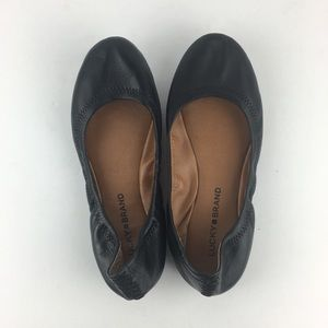 Lucky Brand Shoes - Lucky Brand Black Emmie Leather Ballet Flats